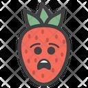 Sad Strawberry Icon