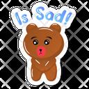 Sad Teddy Bear Icon