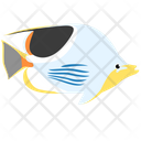 Saddle Butterfly Fish Sea Creature Animal Icon