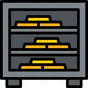 Safe And Gold Icon