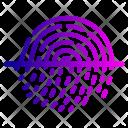 Safe Fingerprint Look Icon