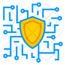 Safe Artificial Intelligence Secure Data Icon