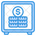 Safe Box Coins Finance Icon