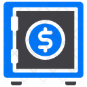 Safe Box Savings Money Icon