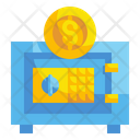 Safe Box Dollar Money Icon