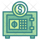 Safe Box Locker Dollar Icon
