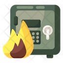 Safe Burning Locker Burning Vault Burning Icon