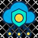 Safe Cloud Secure Cloud Secure Data Icon