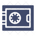 Safe Deposit Box Security Protection Icon