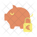 Msafe Lock Money Safe Euro Savings Secure Savings Icon