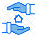 Safe Home Safe House Hand Icon