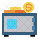 Strongbox Safe Box Money Icon