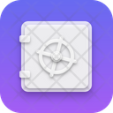 Safe Locker Locker Neumorphism Icon
