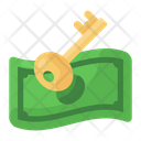 Cash Key Cash Access Secure Money Icon