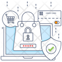 Secure Ecommerce Safe Online Shopping Buy Online Icon