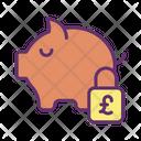 Safe Pound Savings Icon