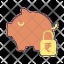 Safe Rupee Savings Icon