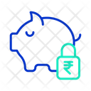 Safe Rupee Savings Icon