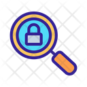 Magnifying Glass Lock Icon
