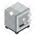 Safe Box Locker Bank Vault Icon