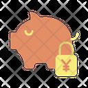 Msafe Lock Money Safe Yen Savings Secure Savings Icon