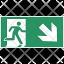 Safety Arrow Exit Icon