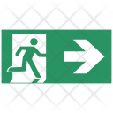 Safety Arrow Exit Icon