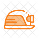Safety Helmet Flashlight Icon
