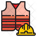 Protector Vest Helmet Safety Icon