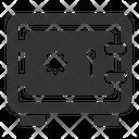 Deposit Safe Vaulted Door Icon