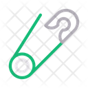 Safetypin Needle Clip Icon