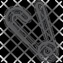 Safety Pin Diaper Pin Needle Pin Icon
