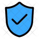 Safety Shield Protection Ecommerce Icon