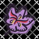 Saffron Flower Plant Icon