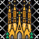 Sagrada Familia Barcelona Church Icon