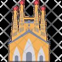 Sagrada Familia Church Monument Icon