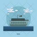 Sail Boat Ocean Icon