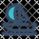 Sail Ship Surfer Icon