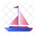 Sailboat Travelling Transport Icon