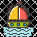Sailboat Transportation Boat Icon