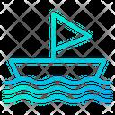 Sailboat Sailing Ship Icon