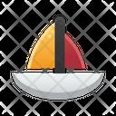 Sailboat Summer Sunny Day Icon