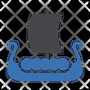 Sailboat Warrior Transportation Icon