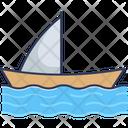 Sailboat Ferry Boat Sailing Icon