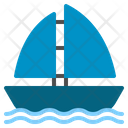 Ship Transport Transportation Sailboat Sea Sport Sail Icon