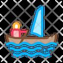 Sailing Canoeing Boat Icon