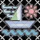 Sailing Ship Wind Icon