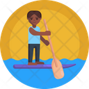 Sailing Paddle Water Icon