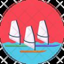Saling Boats Sea Icon