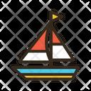Sailling Boat Boat Ship Icon